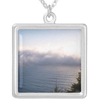 Oregon Fog Square Pendant Necklace