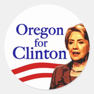 Oregon for Clinton Stickers