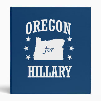 OREGON FOR HILLARY 3 RING BINDERS