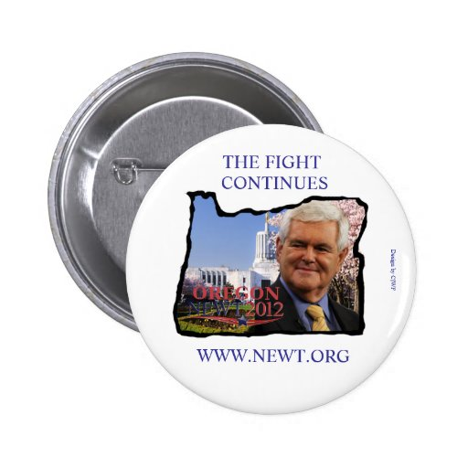 Oregon for Newt Gingrich Pin