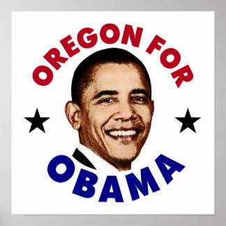 Oregon For Obama Poster