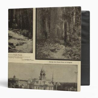 Oregon forest giant pines plaza, Salem, Oregon 3 Ring Binder