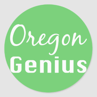 Oregon Genius Gifts Classic Round Sticker