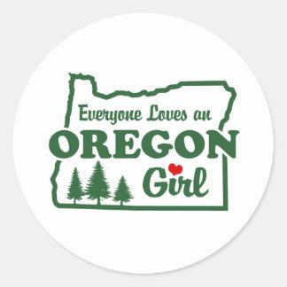 Oregon Girl Classic Round Sticker