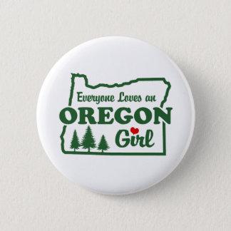 Oregon Girl Pinback Button
