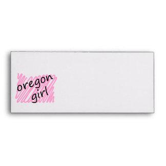Oregon Girl with Scribbled Oregon Map Envelope
