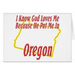 Oregon - God Loves Me Cards