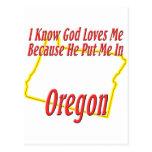 Oregon - God Loves Me Post Cards