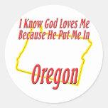 Oregon - God Loves Me Stickers