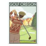 Oregon - Golf Scene 5x7 Paper Invitation Card