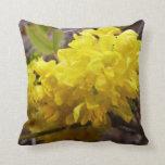 Oregon Grape Flowers Yellow Wildflowers Throw Pillow