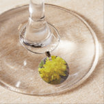 Oregon Grape Flowers Yellow Wildflowers Wine Glass Charm