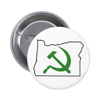 Oregon - green is the new red 2 inch round button