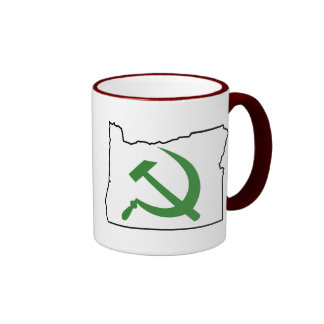 Oregon - green is the new red ringer coffee mug