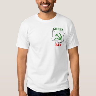 Oregon - green is the new red t shirts