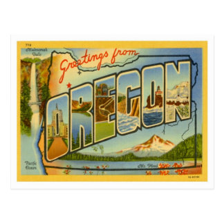 Oregon Greetings From US States Postcard