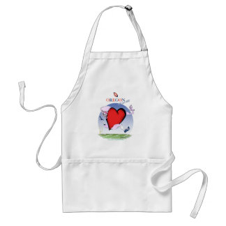 oregon head heart, tony fernandes adult apron
