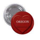 Oregon Heart Map Design Button