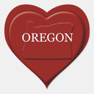 Oregon Heart Map Design Sticker