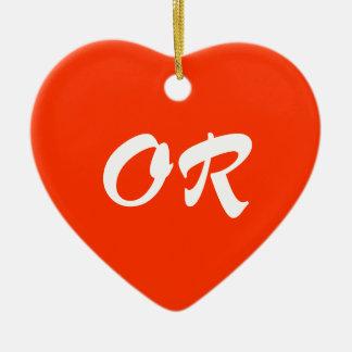 Oregon Heart Ornament