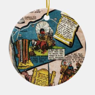 Oregon History Ceramic Ornament