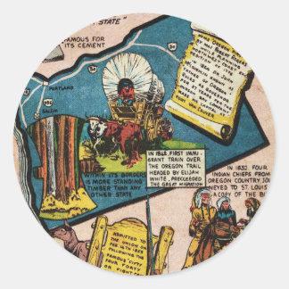 Oregon History Classic Round Sticker