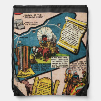 Oregon History Drawstring Backpack