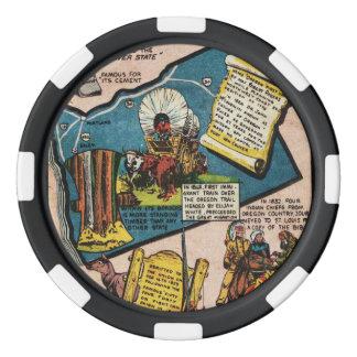 Oregon History Set Of Poker Chips
