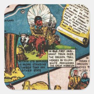 Oregon History Square Sticker