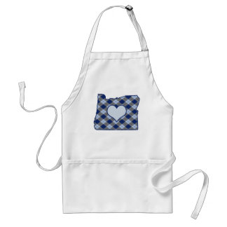 Oregon Home is Where the Heart is Adult Apron
