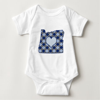 Oregon Home is Where the Heart is Baby Bodysuit