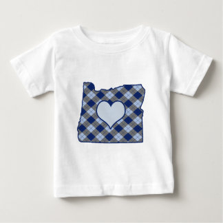 Oregon Home is Where the Heart is Baby T-Shirt