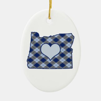 Oregon Home is Where the Heart is Ceramic Ornament