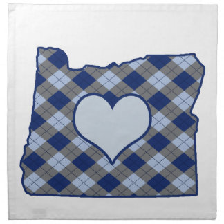 Oregon Home is Where the Heart is Cloth Napkin