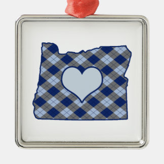 Oregon Home is Where the Heart is Metal Ornament