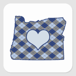 Oregon Home is Where the Heart is Square Sticker
