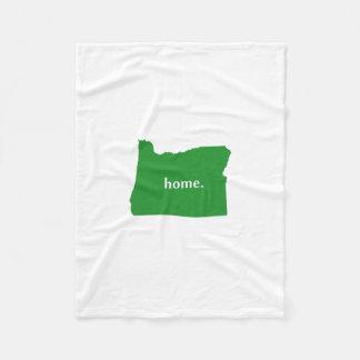 Oregon Home State Green Fleece Blanket