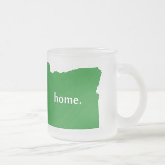Oregon Home State Green Frosted Glass Coffee Mug