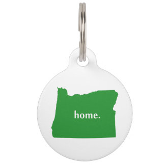 Oregon Home State Green Pet ID Tag