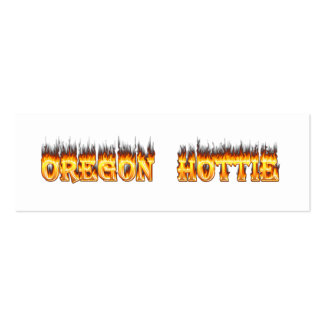oregon hottie fire and flames business cards