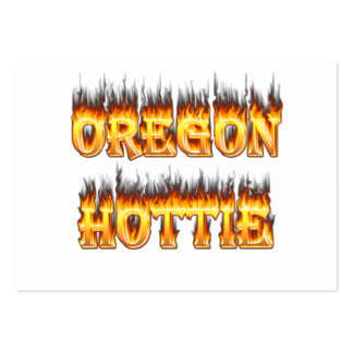 oregon hottie fire and flames business card templates