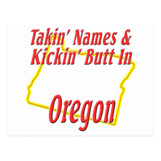 Oregon - Kickin' Butt Postcard