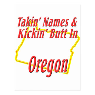 Oregon - Kickin' Butt Postcard