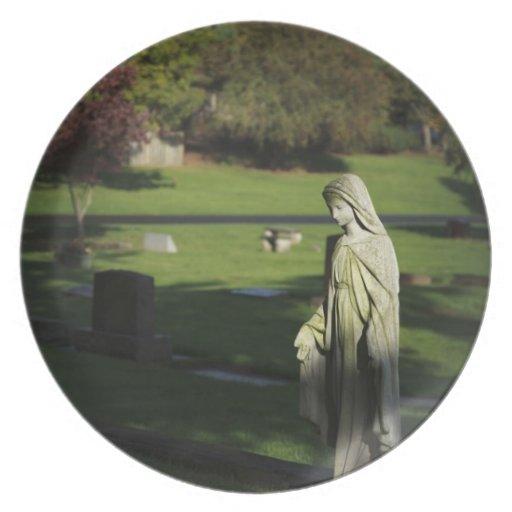 Oregon, lago Oswego, cementerio pionero de Oswego Plato De Cena