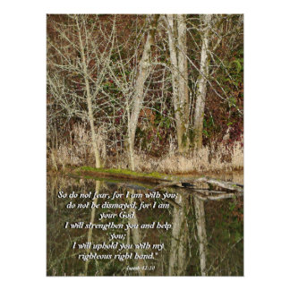 Oregon Lake Isaiah 41:10 Christian Print