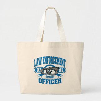 Oregon Law Enforcement Officer Handcuffs Jumbo Tote Bag
