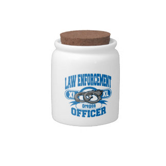 Oregon Law Enforcement Officer Handcuffs Candy Jars