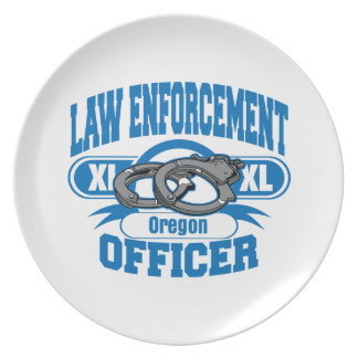 Oregon Law Enforcement Officer Handcuffs Plate