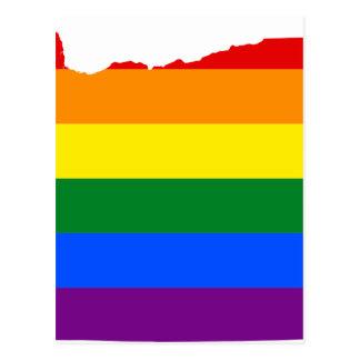 Oregon LGBT Flag Map Postcard