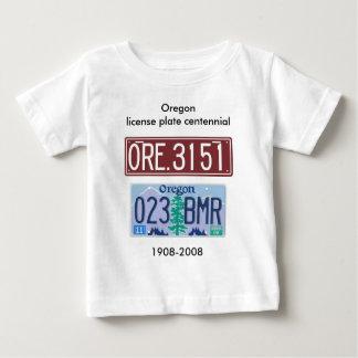 Oregon license plate centennial baby T-Shirt